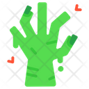 Hand Zombie Spooky Icon