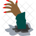 Zombie Hand Grave Hand Frightening Icon