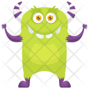 Zombie Potato Colorful Icon