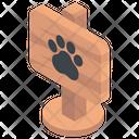 Zoo Elephant Footprint Animal House Icon
