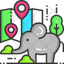 Zoo Location Zoo Animal Icon