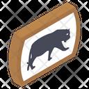 Zoo Symbol Animal Area Animal Signboard Icon