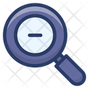 Zoom Out Magnifier Monitoring Icon