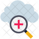 Cloud Computing Magnifier Icon