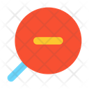 Zoom Out Loupe Glass Icon