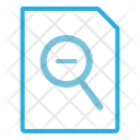 Zoom Out Paper Document Icon