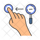 Zoom Out Horizontal Gesture Icon