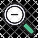 Zoomout Minus Magnifier Icon