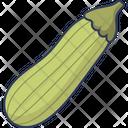 Zucchini Vegetarian Healthy Food Icon