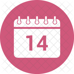 14, February, Calendar, Date, Event, Schedule Icon
