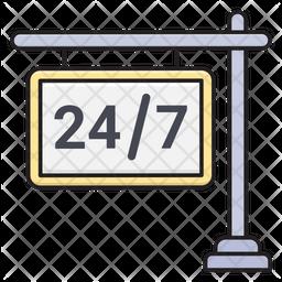 24 Hour Board Icon
