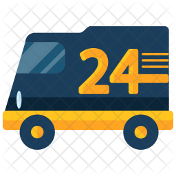 24 hour delivery icon of flat style available in svg png eps ai icon fonts 24 hour delivery icon