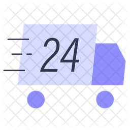 24 Hour Delivery Icon