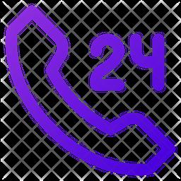 24 Hour Emergency Icon