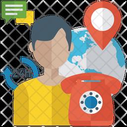 24 Hour Helpline Icon