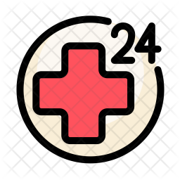 24 hour medical service Icon