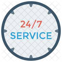 24 hour service icon of flat style available in svg png eps ai icon fonts 24 hour service icon