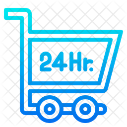 24 Hour Shopping Icon