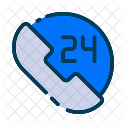 24 hours call Icon