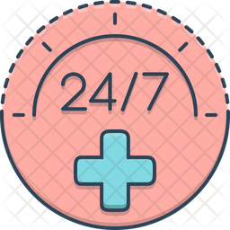 24 hours medical services Icon