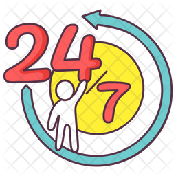 24 Hr Service Icon