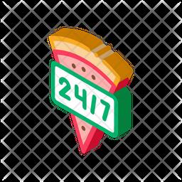 247 Pizza Service Icon