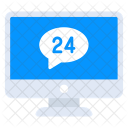 24Hr Services Flat Icon