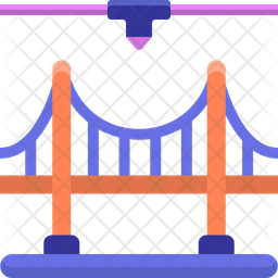 3 D Bridges Icon