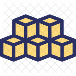 3 D Cubes Icon