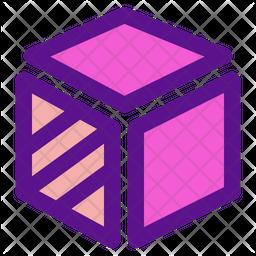 3 D Design Colored Outline Icon