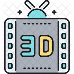 3 D Film Icon