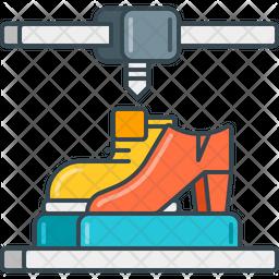 3 D Shoes Icon