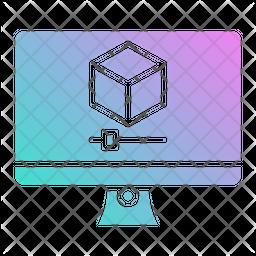 3 D Video Icon