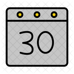 30 Date Icon Of Colored Outline Style Available In Svg Png Eps Ai Icon Fonts