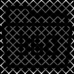 360 folder Line Icon