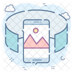 360 View Colored Outline Icon