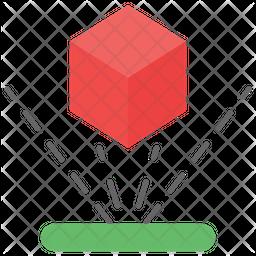 3d Block Flat Icon