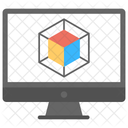 3D Computer Graphics Icon