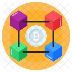 3d Connected Blockchain Icon