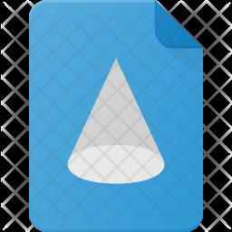 3d file Flat Icon