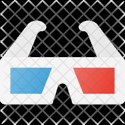 3d glasses Flat Icon