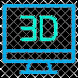 3D Monitor Icon