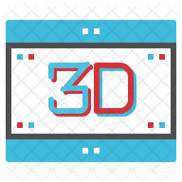3D Movie Icon