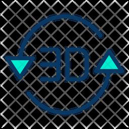 3D Rotation Icon