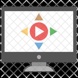 3d Video Icon
