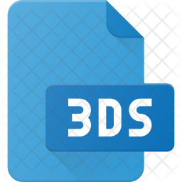 3ds file Flat Icon