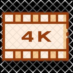 4 K Display Icon