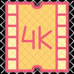 4 K Film Icon