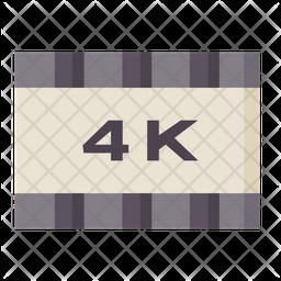 4 K Screen Icon