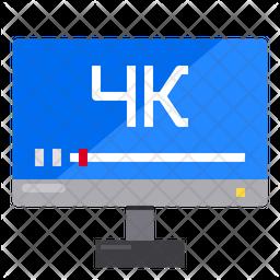 4 K Video Icon